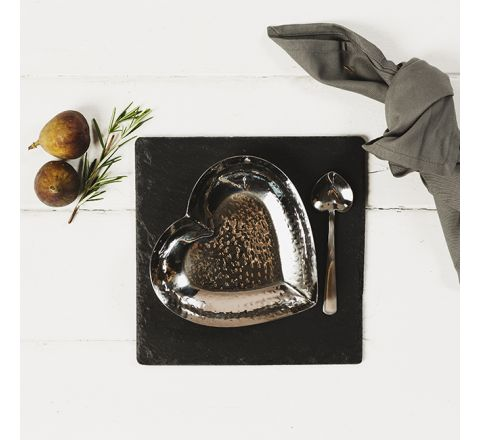 Slate Heart Dish & Spoon Set
