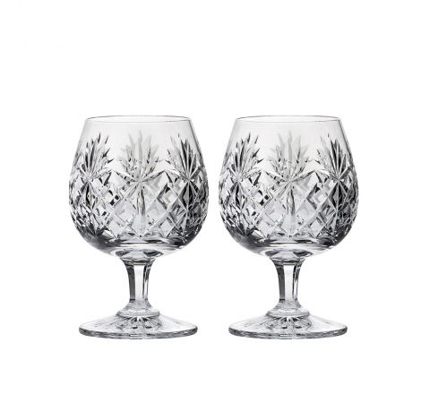 Kintyre 2 Crystal Brandy Glasses - 132mm (Gift Boxed) | Royal Scot Crystal