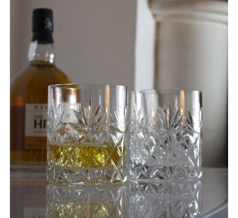 Kintyre - 2 Large On the Rocks Tumblers 100 mm (Gift Boxed)   Royal Scot Crystal