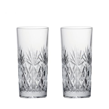 Kintyre 2 Crystal Tall Tumblers  - 150mm (Gift Boxed) | Royal Scot Crystal