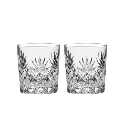 Kintyre 2 Crystal Whisky Tumblers - 84mm (Gift Boxed) | Royal Scot Crystal