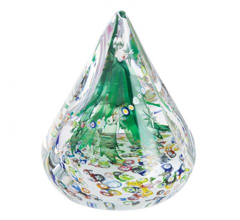 Evergreen Christmas Glass paperweight / Ornament, 140mm - Limited Edition of 150 | Caithness Glass