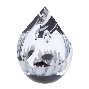 Polar Star Quatro Glass Paperweight (Floral) - 110mm | Caithness Glass