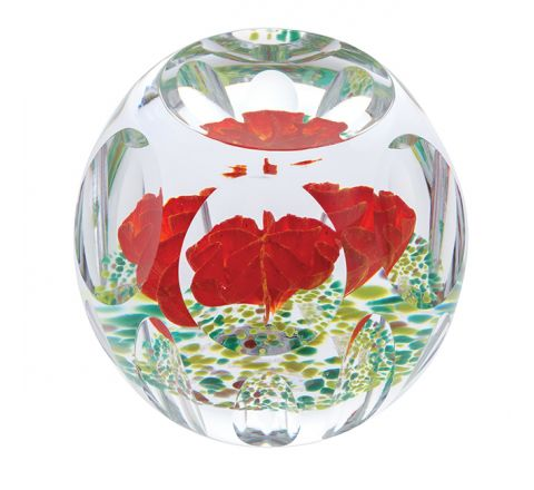 Autumn Idyll Glass Paperweight, 105mm (Floral) - Limited Edition of 100 - | Caithness Glass