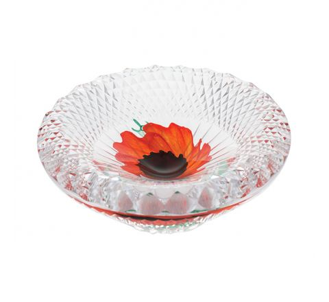 A Nation's Thank You Glass Dish 155mm (Remembrance) Limited Edition of 25 |Caithness Glass