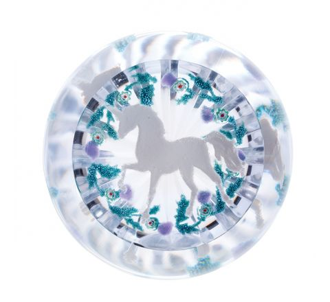 Untamed Beauty Glass Paperweight, 100mm (Scottish) (Unicorn) - Limited Edition of 150 | Caithness Glass