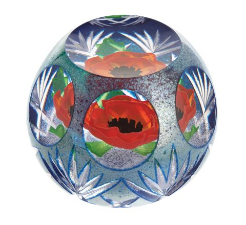 Precious Memory Glass Paperweight 95mm (Remembrance) Limited Edition of 150 |Caithness Glass