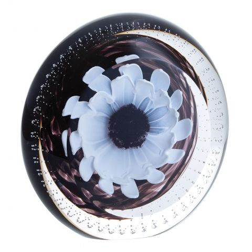 Polar Star Wheel Glass Paperweight (Floral) - 130mm | Caithness Glass