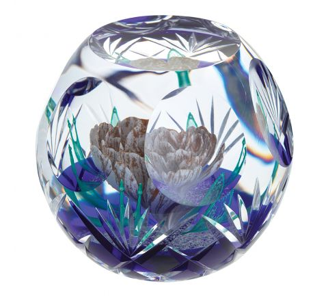 Hot House Antiquity Glass Paperweight, 125mm (Floral) - Limited Edition of 100 | Caithness Glass