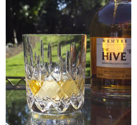 Single Aviemore Large Tumbler 95mm (Gift Boxed) | Royal Scot Crystal