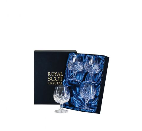 London - 4 Crystal Brandy Glasses 132mm (Presentation Boxed) | Royal Scot Crystal