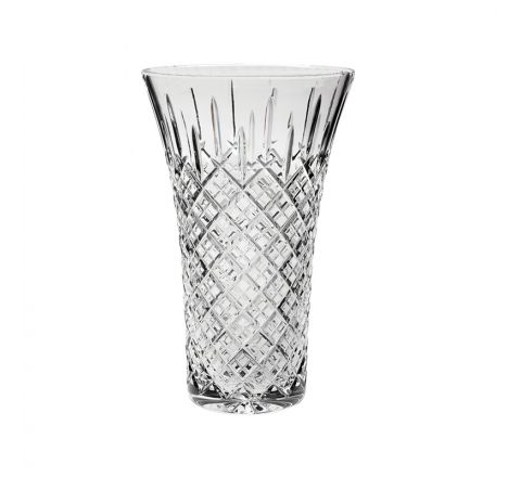 """SALE - London Crystal Extra Large Flared Vase 12"""", 300mm (BROWN CARD BOX) SECONDS QUALITY"""