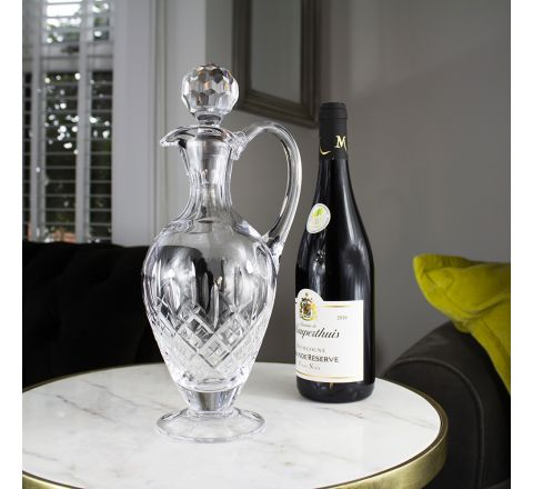 London - Crystal Handled Wine Decanter - 310mm (Gift Boxed) | Royal Scot Crystal