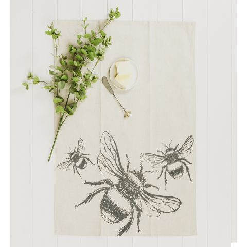 Bee Linen Tea Towel