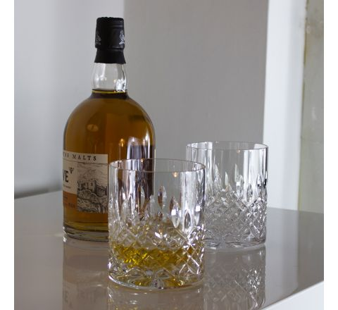 Mayfair - 2 Large On the Rocks Tumbler 100 mm (Gift Boxed) | Royal Scot Crystal