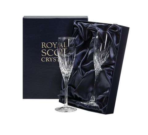 Mayfair - 2 Crystal Champagne Flute 218mm (Presentation Boxed) | Royal Scot Crystal