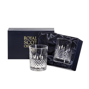 Mayfair - 2 Large Crystal Tumblers 95mm (Presentation Boxed) | Royal Scot Crystal