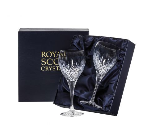 Mayfair - 2 Crystal  Wine Glasses 195mm (Presentation Boxed) | Royal Scot Crystal