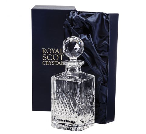 Mayfair - Square Spirit Decanter 245mm (Presentation Boxed) | Royal Scot Crystal