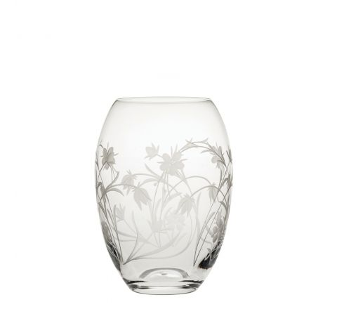 Meadow Flowers Small Barrel Vase 145mm (Gift Boxed)   Royal Scot Crystal