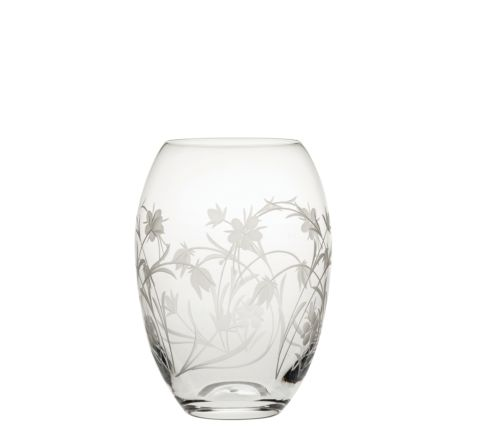 Meadow Flowers Small Barrel Vase 145mm  (SECONDS QUALITY)   Royal Scot Crystal