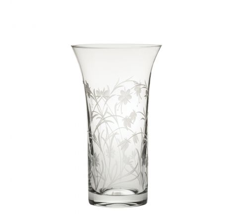 Meadow Flowers Flared Vase 200mm (Gift Boxed)   Royal Scot Crystal