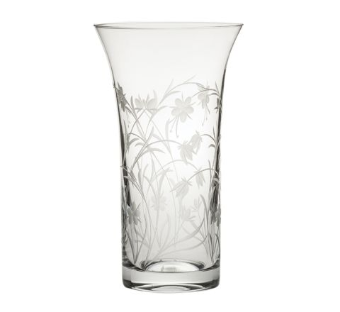 Meadow Flowers Large Flared Vase 255mm (Gift Boxed) | Royal Scot Crystal