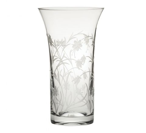 Meadow Flowers Large Flared Vase 260mm (Gift Boxed)   Royal Scot Crystal