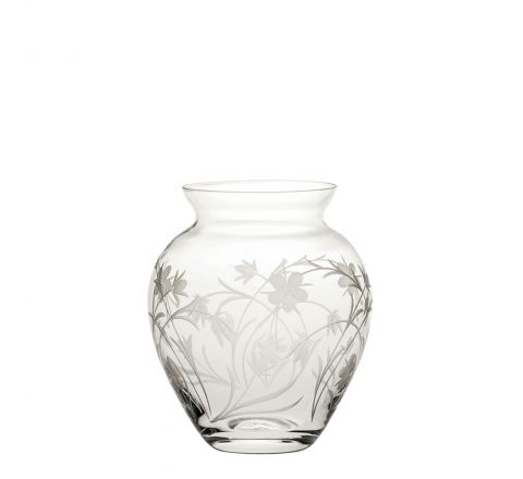 Meadow Flowers Small Posy Vase 120mm (Gift Boxed)   Royal Scot Crystal