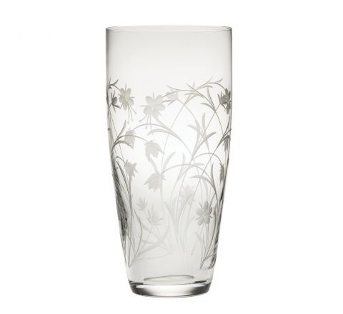 Meadow Flowers - Tall Vase 250mm (SECONDS QUALITY)   Royal Scot Crystal