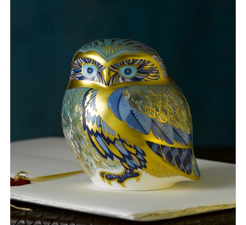 Nightingale Owl 78.5mm (Gift Boxed) | Royal Crown Derby - AVAILABLE TO PRE ORDER