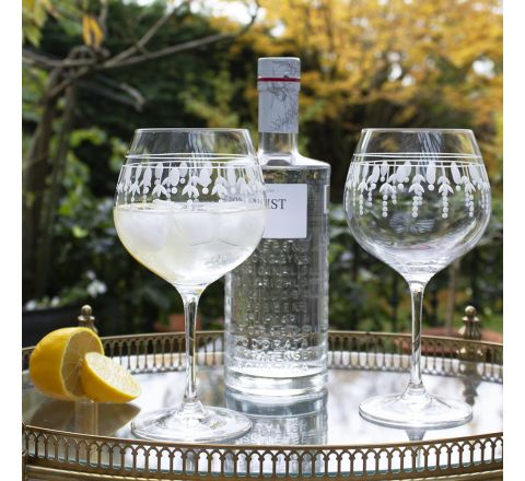 Nouveau 2 - Gin and Tonic (G&T) Copa Glasses, 210mm (Gift Boxed)