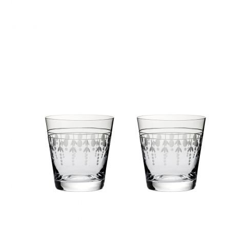 Nouveau - 2 Large Tumbler, 95mm (Gift Boxed) | Royal Scot Crystal - New!