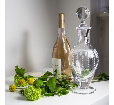 Nouveau - Crystal Footed Wine / Port Decanter - 310mm (Gift Boxed) | Royal Scot Crystal