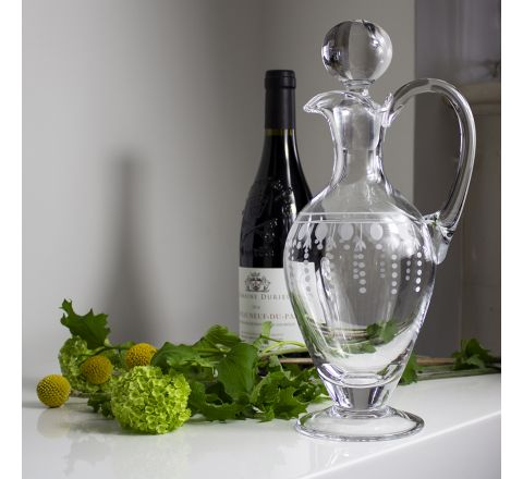 Nouveau - Handled Wine Decanter, 310mm (Gift Boxed) | Royal Scot Crystal