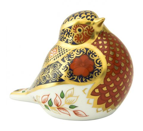 Old Imari Solid Gold Band Robin 65mm (Gift Boxed) | Royal Crown Derby