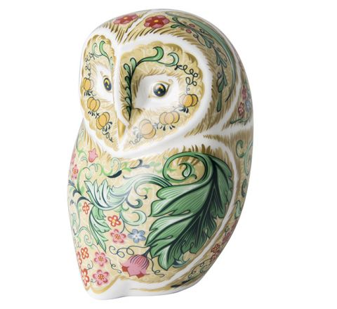 Parchment Owl 110mm (Gift Boxed) | Royal Crown Derby