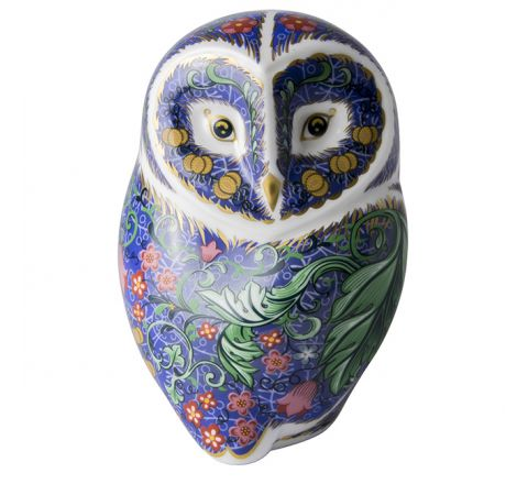 Periwinkle Owl 110mm (Gift Boxed) | Royal Crown Derby