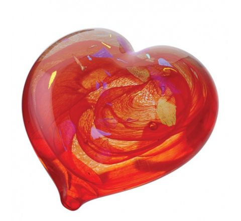 Piece of My Heart Ruby Glass Paperweight 80mm (Love) | James Pirie