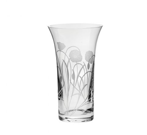 Poppy Field - Large Flared Vase 260mm (Gift Boxed) | NEW | Royal Scot Crystal