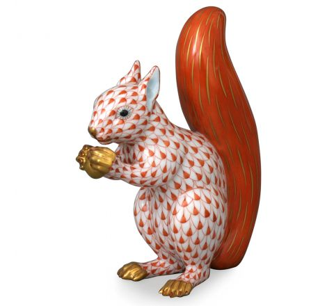 Red Squirrel - Porcelain Animal Figurine 120mm | Herend