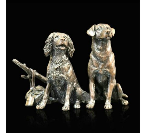 Waiting for the Guns Sculpture (w150mm) (Gift BOxed)| Richard Cooper Bronze