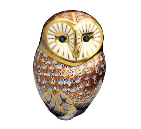 Barn Owl 110mm (Gift Boxed) | Royal Crown Derby