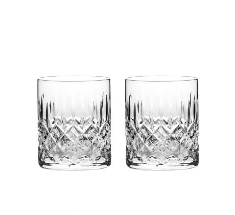 Sandringham - 2 Large On the Rocks Tumblers 100 mm (Gift Boxed) | Royal Scot Crystal