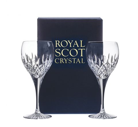 Sandringham - 2 Crystal Large Wine Glasses 210mm (Gift Boxed) | Royal Scot Crystal
