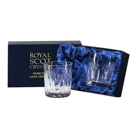 Sapphire - 2 Large Crystal Tumblers (Presentation Boxed)