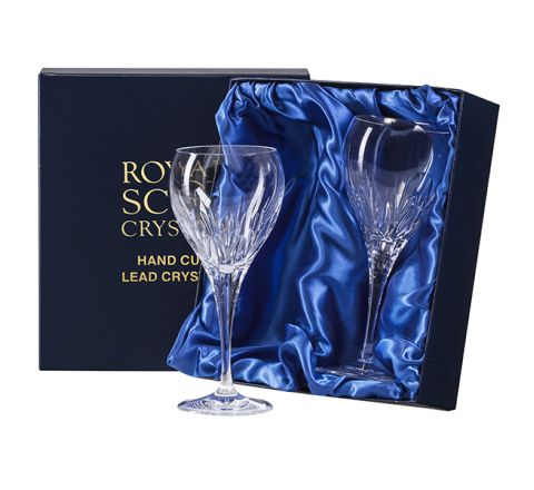 Sapphire - 2 Small Crystal Wine Glasses (Presentation Boxed)