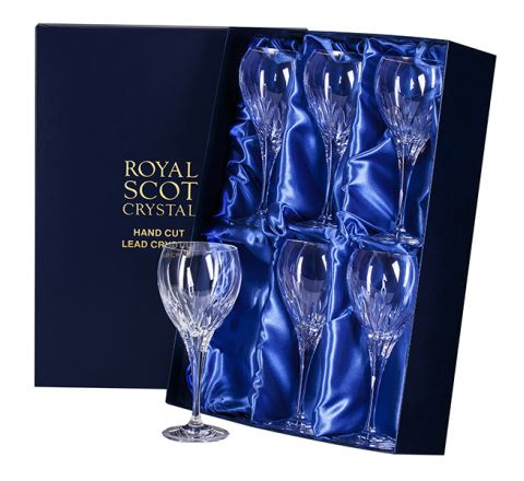 Sapphire - 6 Large Crystal Wine Glasses (Presentation Boxed)