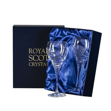 Saturn - 2 Large Crystal Wine Glasses (Presentation Boxed)