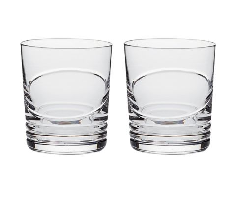 Saturn - 2 Crystal Large Tumblers (Gift Boxed)